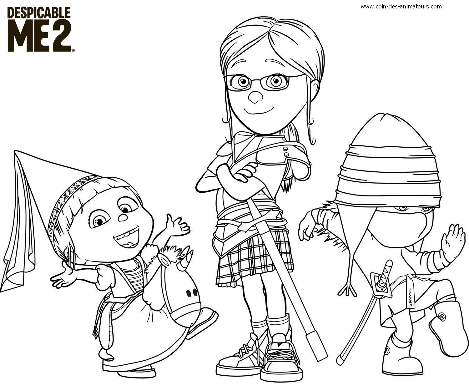 coloring pages despicable me - coloriages minions moi moche et m chant le coin des
